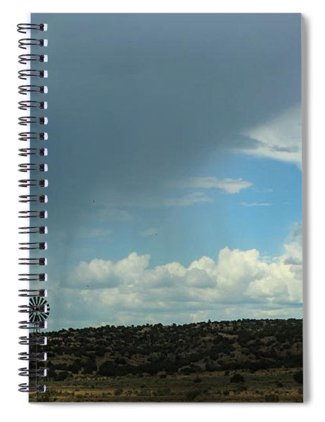 Dramatic Sky Over Windmill Spiral Notebook