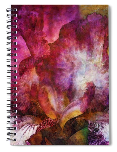 Dramatic White And Purple 0273 Idp_2 Spiral Notebook