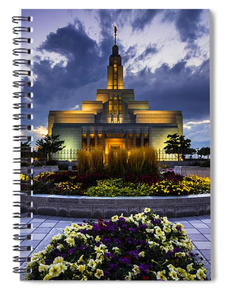Draper Mormon Lds Temple - Utah Spiral Notebook