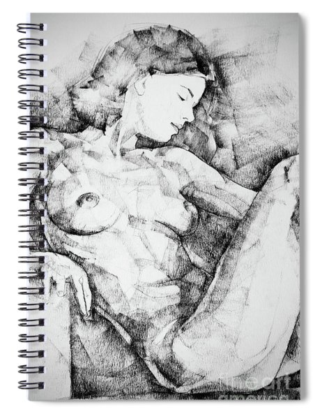 Drawing Beautiful Girl Figure Spiral Notebook