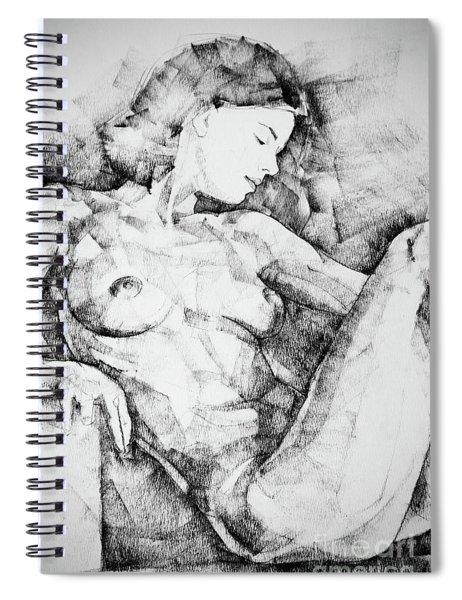 Drawing Beautiful Girl Figure Spiral Notebook