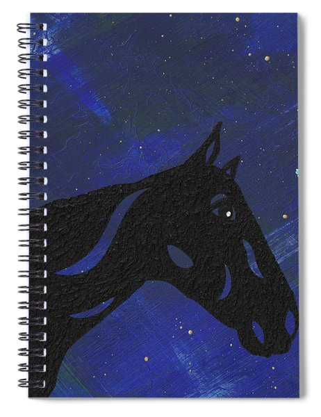 Spiral Notebook featuring the painting Dreaming Horse by Manuel Sueess