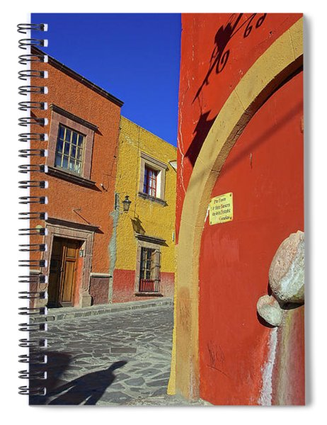 Dreaming In Color In The City Of San Miguel De Allende, Mexico Spiral Notebook