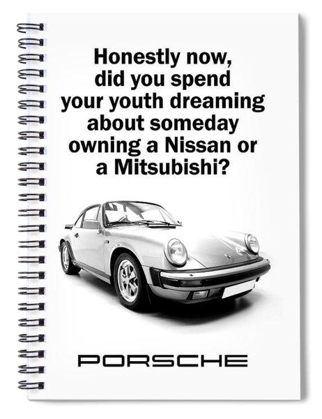 Dreaming Of A Porsche Spiral Notebook