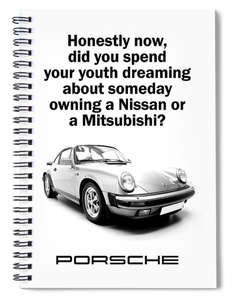 Dreaming Of A Porsche Spiral Notebook