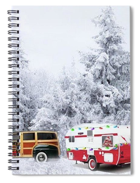 Dreaming Of White Christmas Spiral Notebook