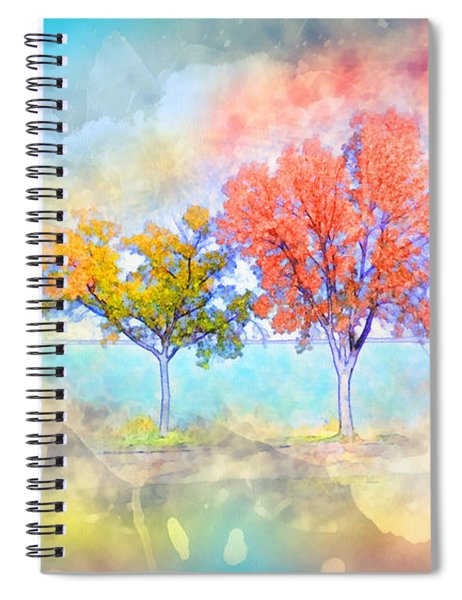 Dreamscape - Autumn Trees Spiral Notebook