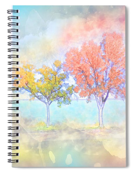 Dreamscape - Autumn Trees - Pastel Spiral Notebook