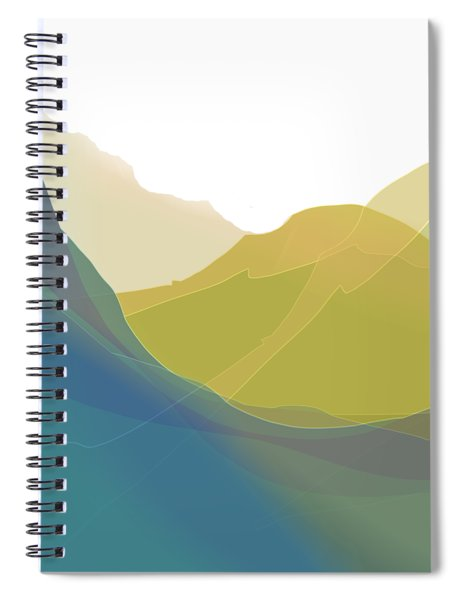 Spiral Notebook featuring the digital art Dreamscape by Gina Harrison