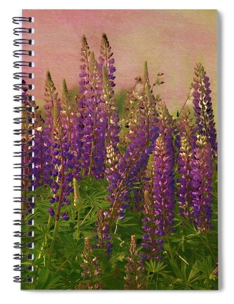 Dreamy Lupin Spiral Notebook