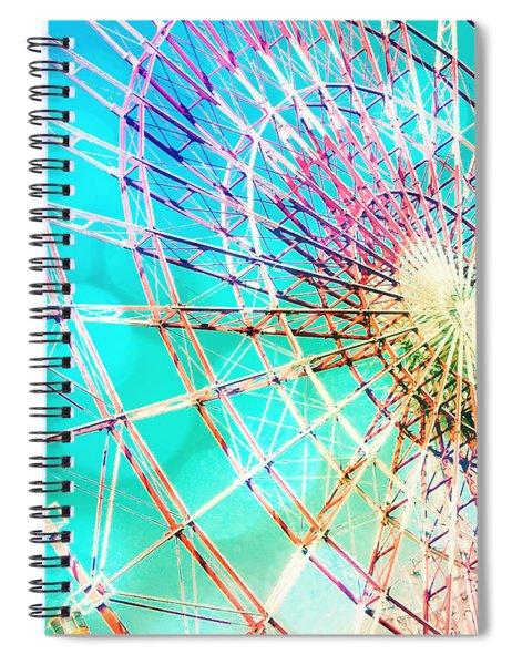 Dreamy Pastel Ferris Wheel Spiral Notebook