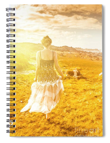 Dreamy Summer Fields Spiral Notebook