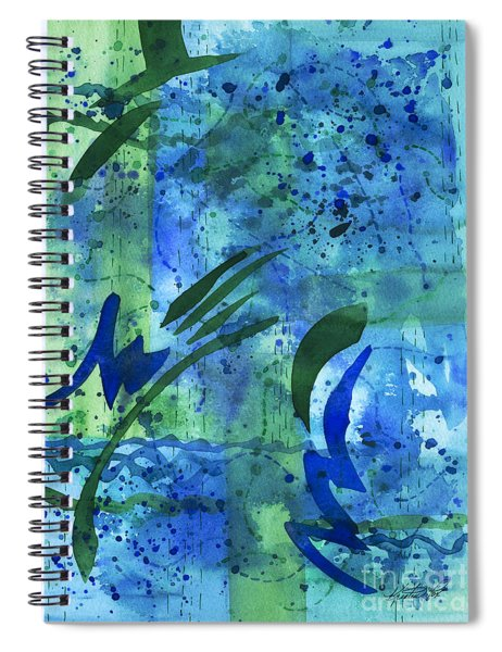 Drenched Watercolor Spiral Notebook