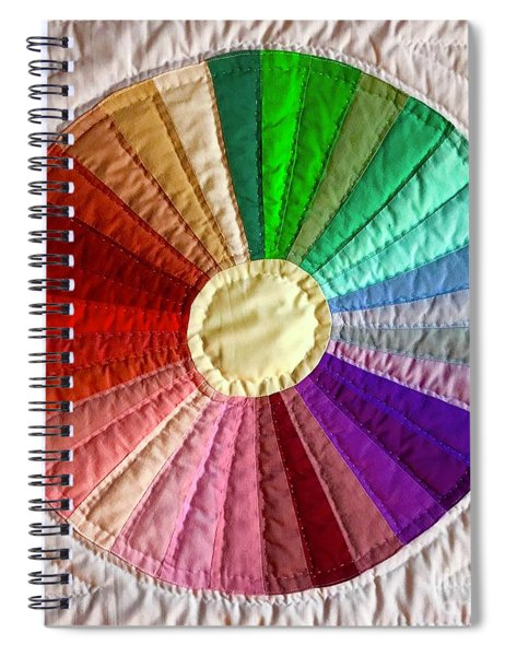 Dresden Plate Circle Spiral Notebook