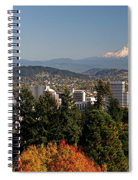 Dressed In Fall Colors Spiral Notebook
