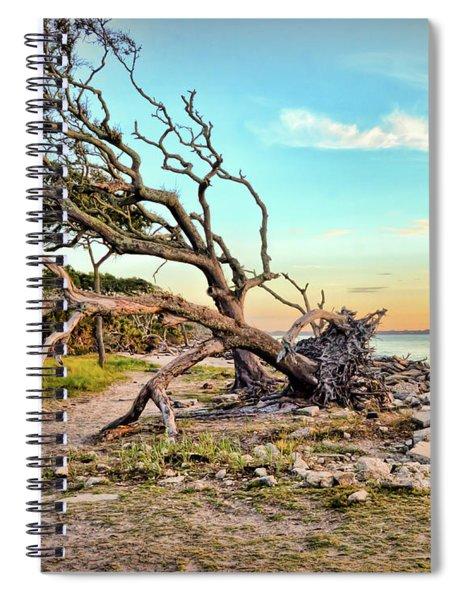 Driftwood Beach Morning 2 Spiral Notebook