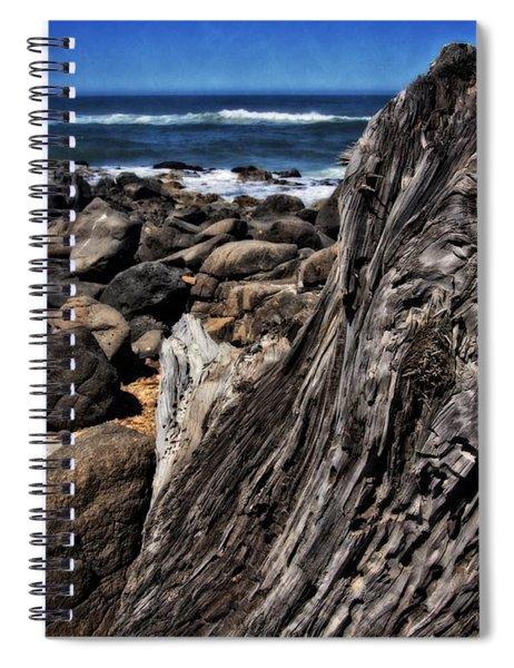 Driftwood Rocks Water Spiral Notebook