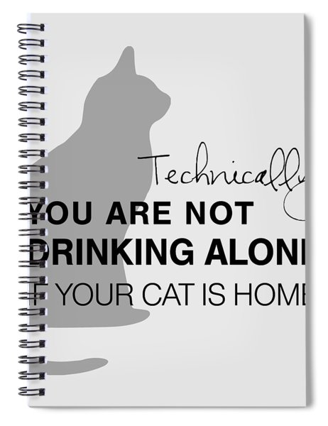 Drinking With Cats Spiral Notebook