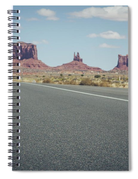 Driving Monument Valley Spiral Notebook