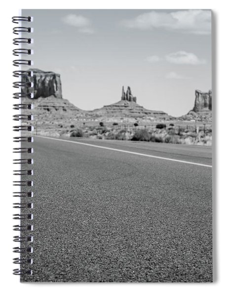 Driving Monument Valley Monochrome Spiral Notebook