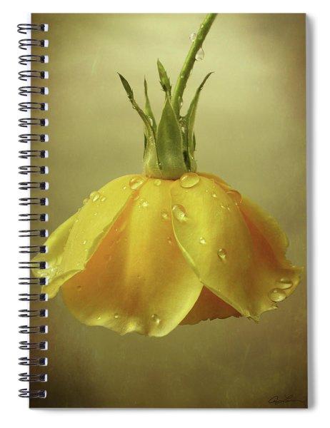 Drop Rose Spiral Notebook