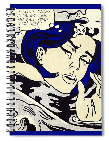 Drowning Girl - Aka Secret Hearts, I Don't Care Or I'd Rather Sink Spiral Notebook