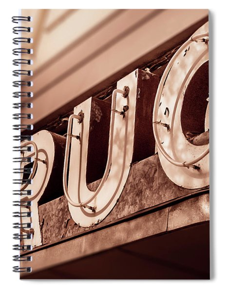 Drug Store Sign - Vintage Downtown Pharmacy Spiral Notebook