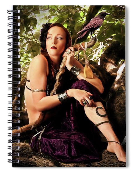 Druid In The Wood Spiral Notebook