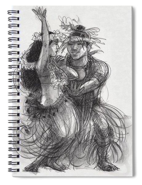 Drum Dance Pas-de-deux Spiral Notebook