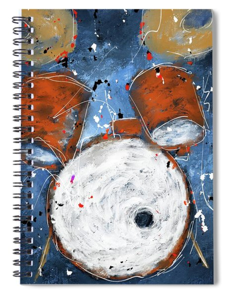 Drums On Blues Spiral Notebook