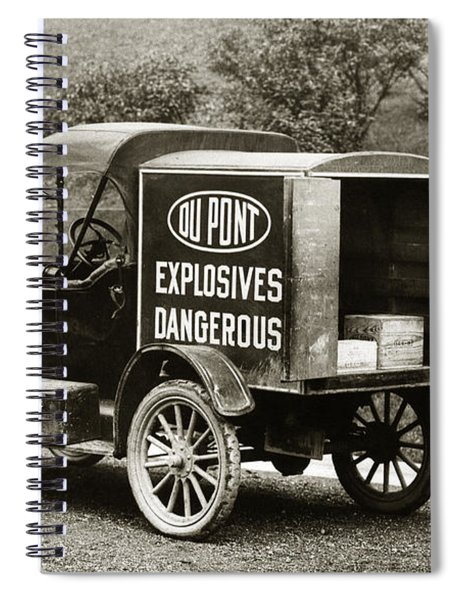 Du Pont Co. Explosives Truck Pennsylvania Coal Fields 1916 Spiral Notebook