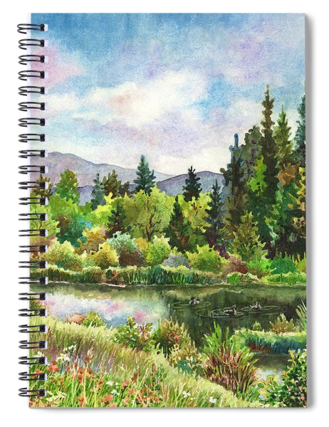 Duck Pond At Caribou Ranch Spiral Notebook