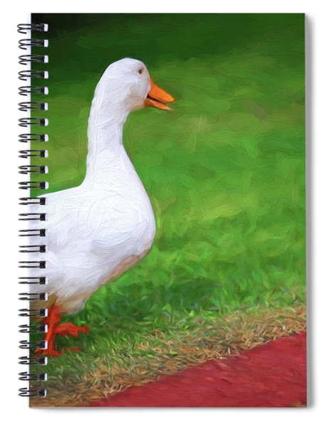 Duck To The Rescue Spiral Notebook