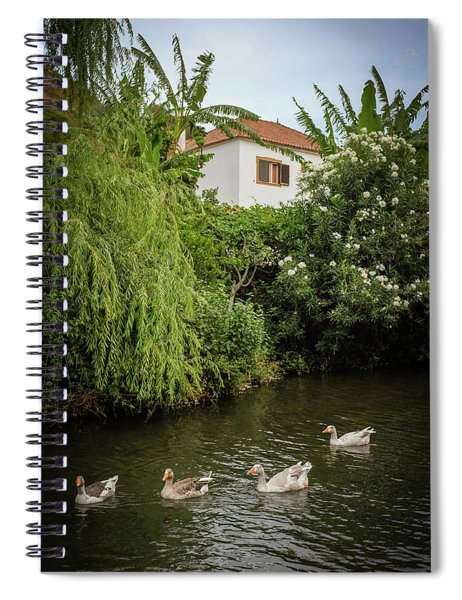 Ducks In Creek Spiral Notebook