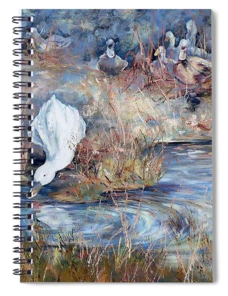 Ducks. Split Opposite Colour Harmony.  Spiral Notebook