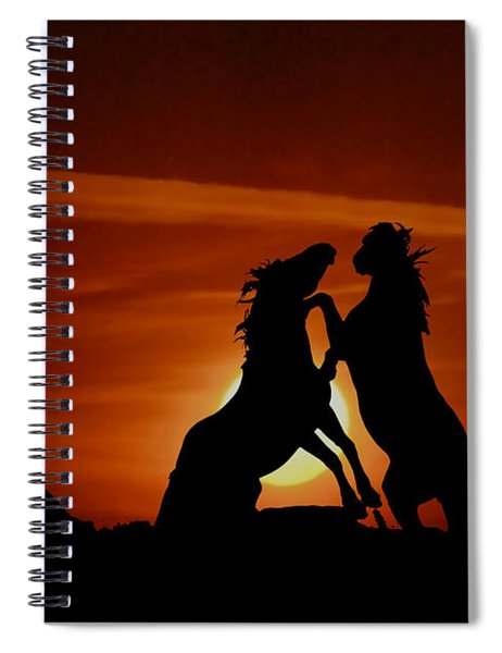 Duel At Sundown Spiral Notebook
