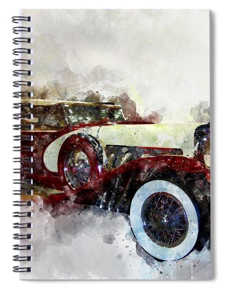 Duesenberg Watercolor Spiral Notebook