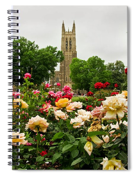 Duke Chapel And Roses Spiral Notebook