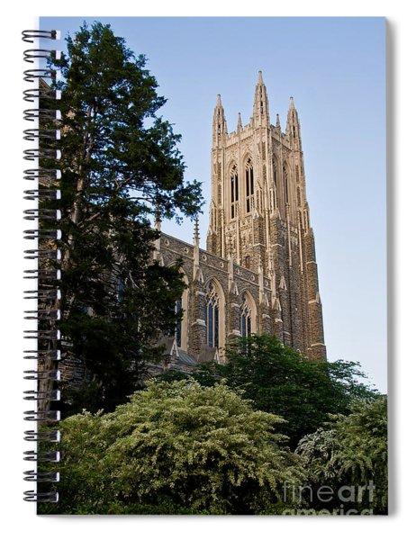 Duke Chapel Side View Spiral Notebook