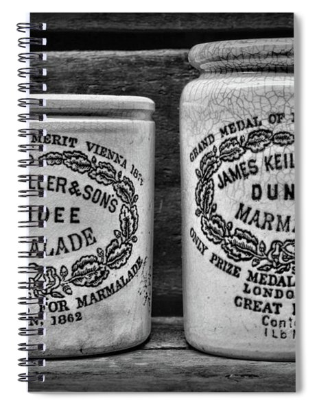 Dundee Marmalade Country Kitchen Black And White Spiral Notebook