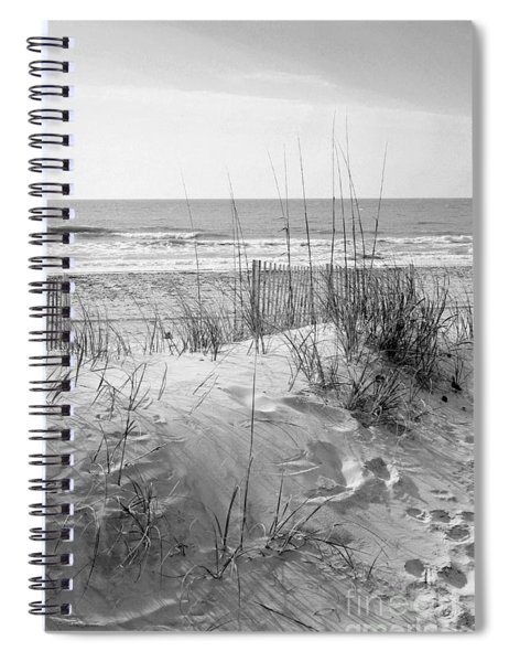 Dune - Black And White Spiral Notebook