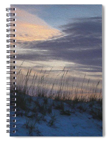 Dune Grass Blue Spiral Notebook