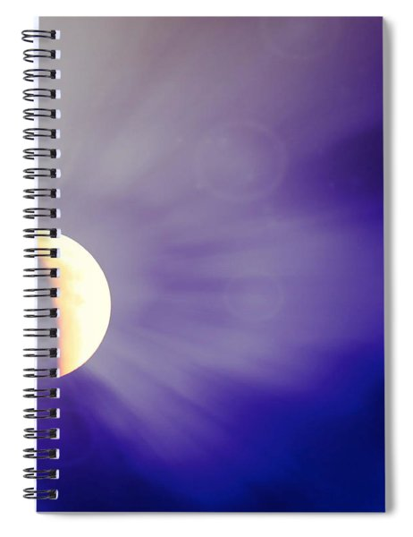 Aries Moon During The Total Lunar Eclipse 3 Spiral Notebook