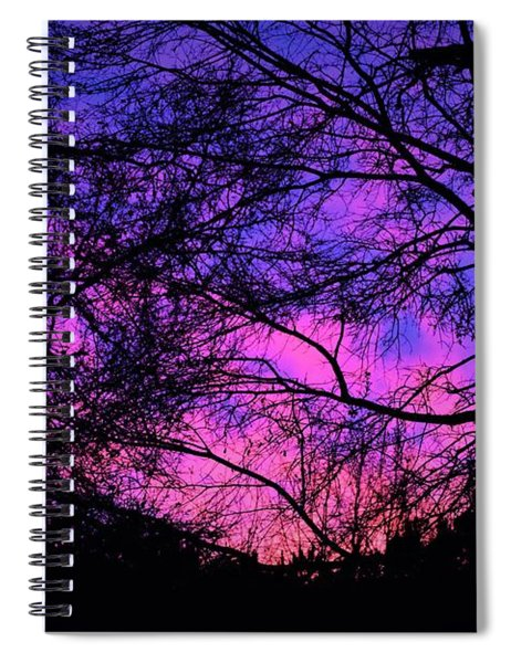 Dusk And Nature Intertwine Spiral Notebook