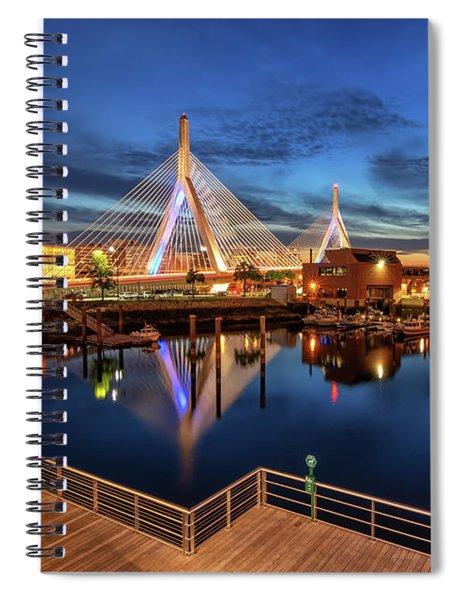 Dusk At The Zakim Bridge Spiral Notebook