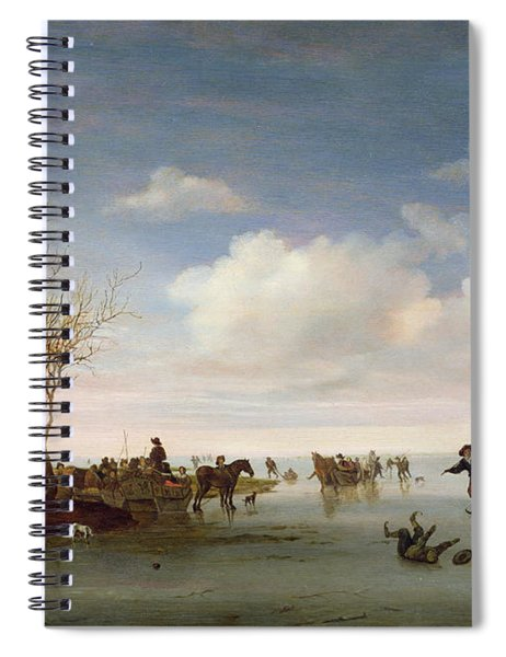 Dutch Landscape With Skaters Spiral Notebook