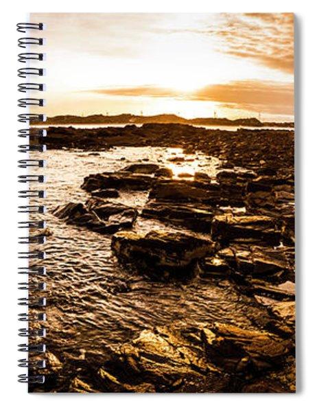 Dynamic Ocean Panoramic Spiral Notebook