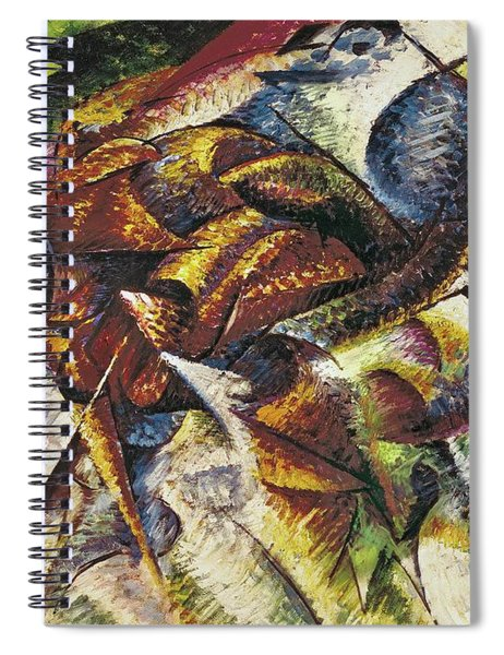 Dynamism Of A Cyclist Spiral Notebook
