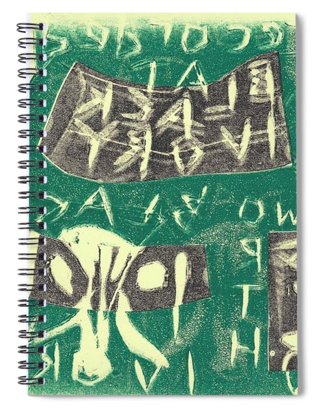 E Cd Grey And Green Spiral Notebook