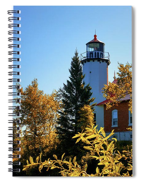 Eagle Harbor Autumn Gold Spiral Notebook